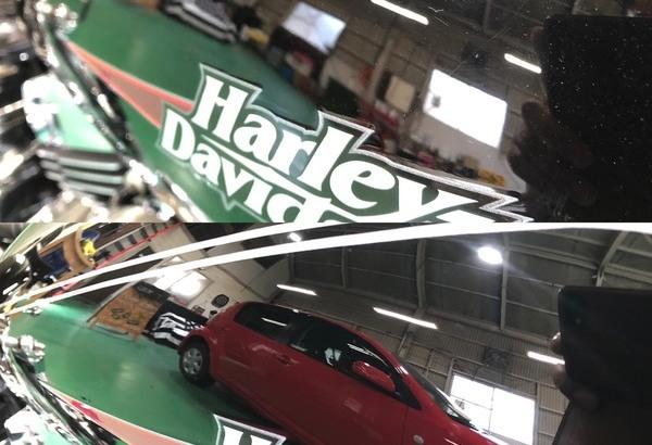 Harley Davidson ガラスコーティング+Gem X